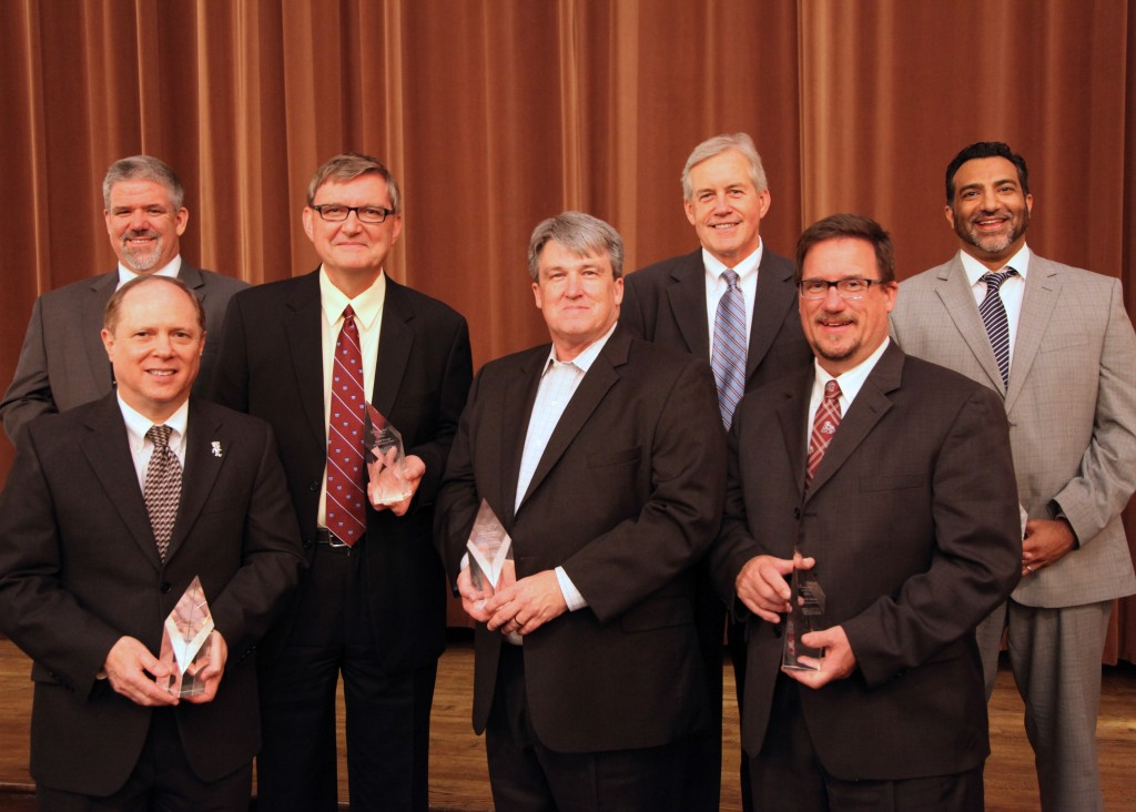 The Bagley College added 10 alumni to its Distinguished Fellows ranks. Front row from L-R: Charles Cascio, Stephen Cayson, and Brian Sabourin; Back row from L-R: Daniel Fordice, Damir Novosel, Charles Cumbaa, and J. Singh Sandhu. Not pictured: Tommy Joseph, Charles Stephenson, and Grace Comfort Strucko.