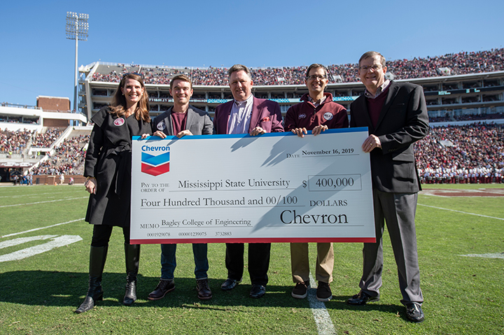 Chevron makes a donation to the Bagley College of Enginering