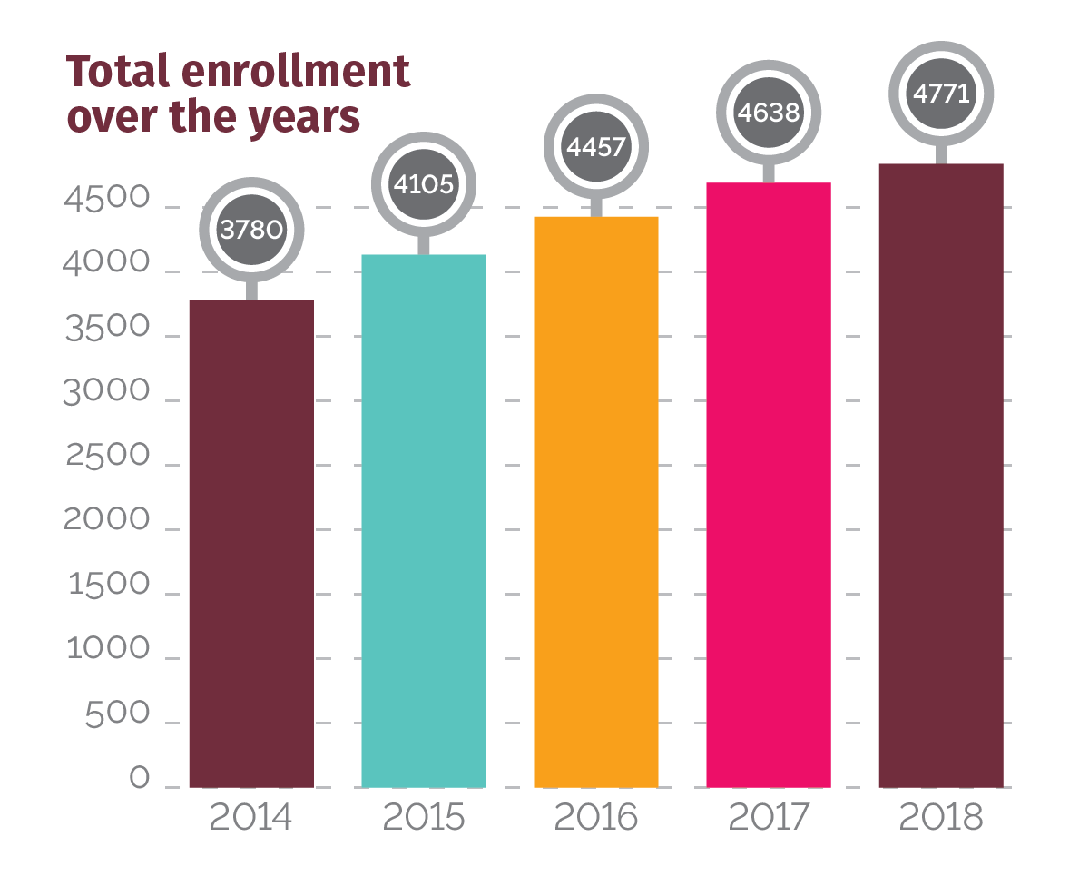 Total Enrollment Over The Years