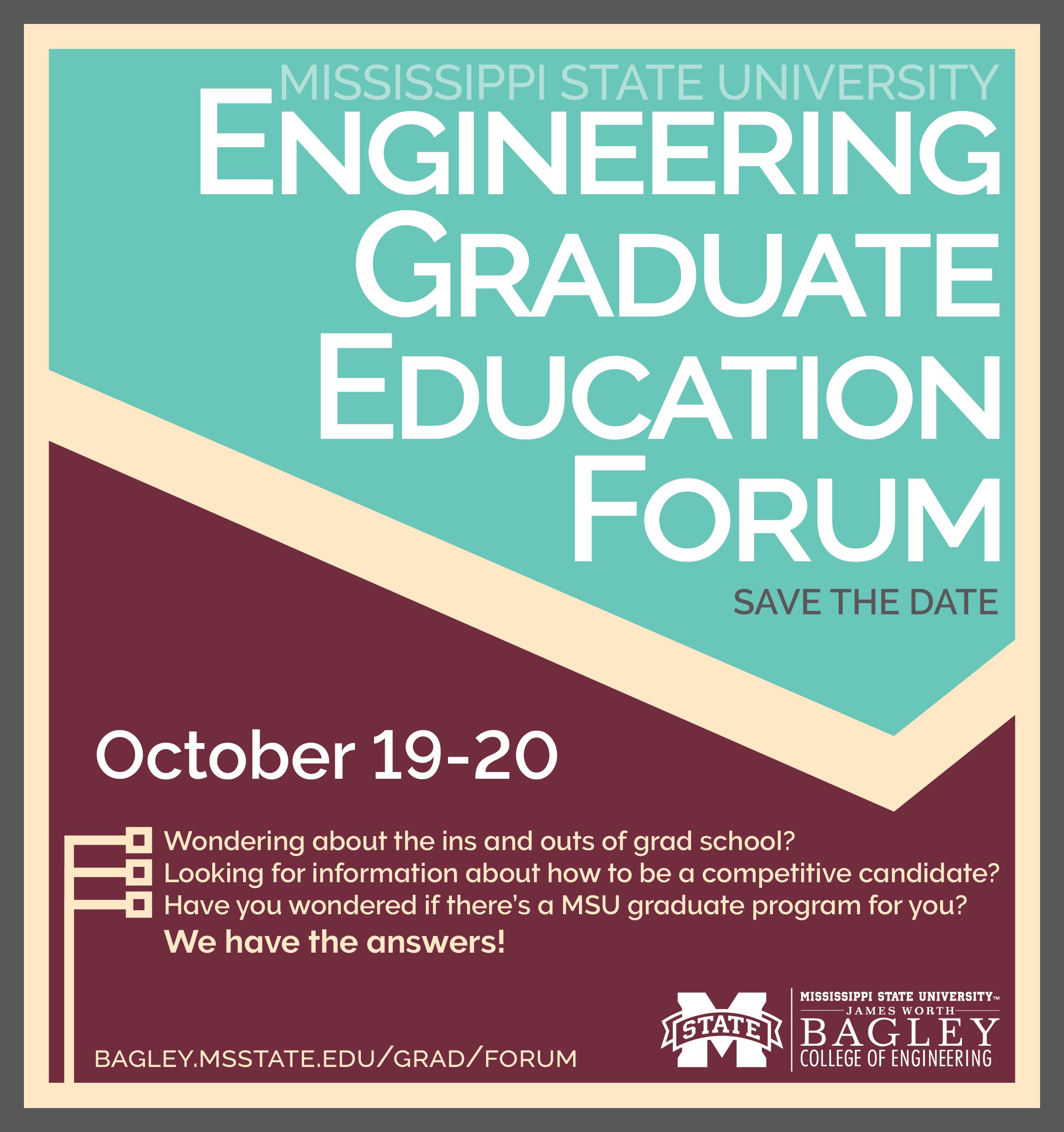 Engineering Graduate Education Forum Save the Date