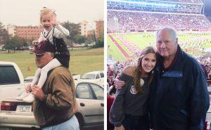 Ellie Saget and her grandfather Don Saget