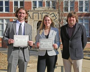 2019 winners of the Tau Beta Pi Excellence scholarship